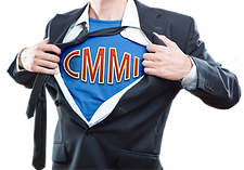 Man Ripping Shirt Open to Reveal CMMI On Chest