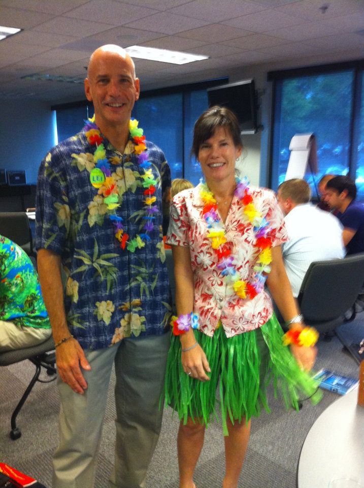 Susan Rocks Our Hawaiian Shirt Day