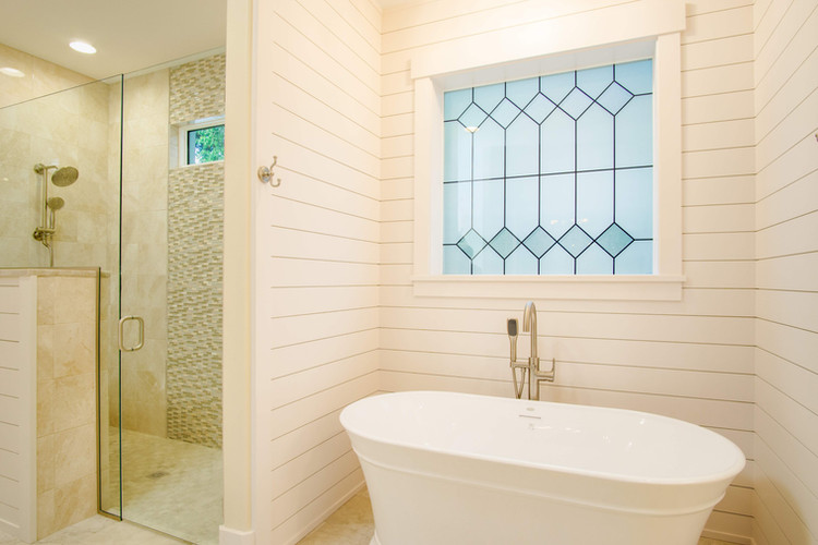 Free Standing Tub under Picture Window