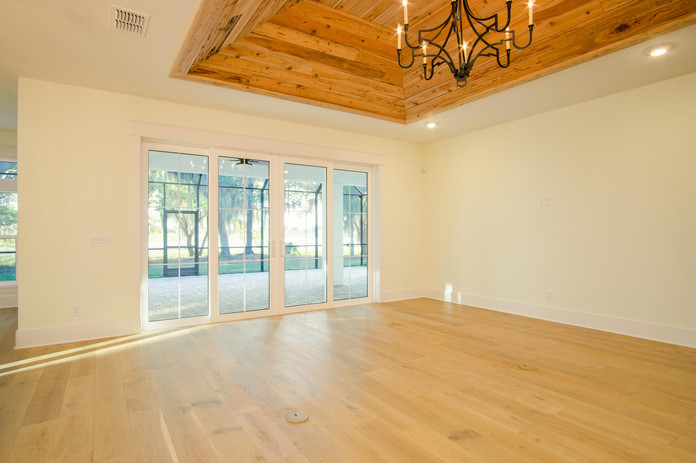 Pecky Cypress Tray Ceiling
