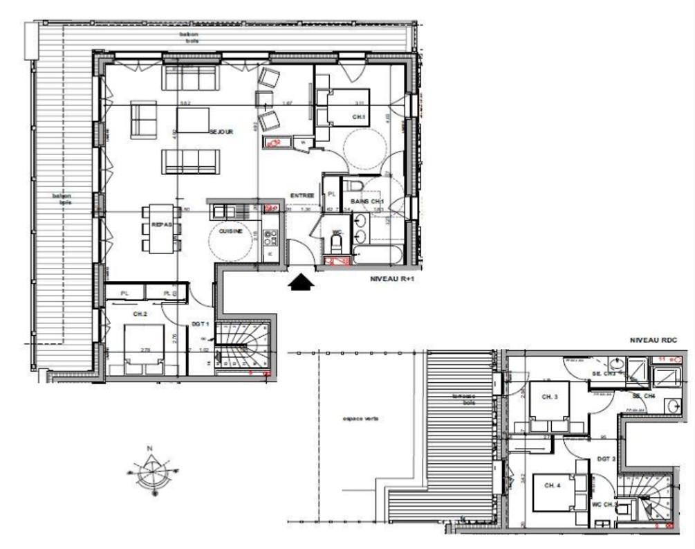 Appartement 5 - RDC + 1er étage