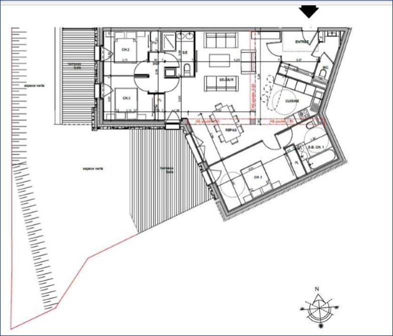 Plan appartement 1