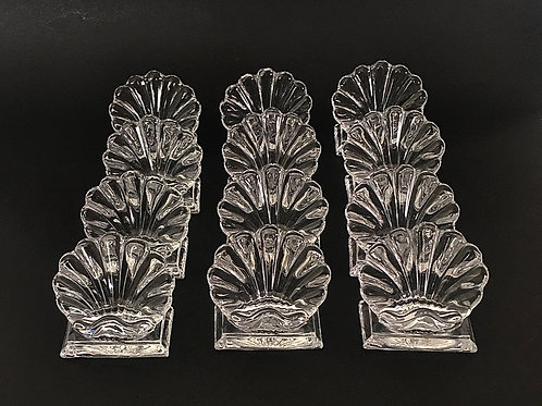 Baccarat crystal place card holders, set of 12