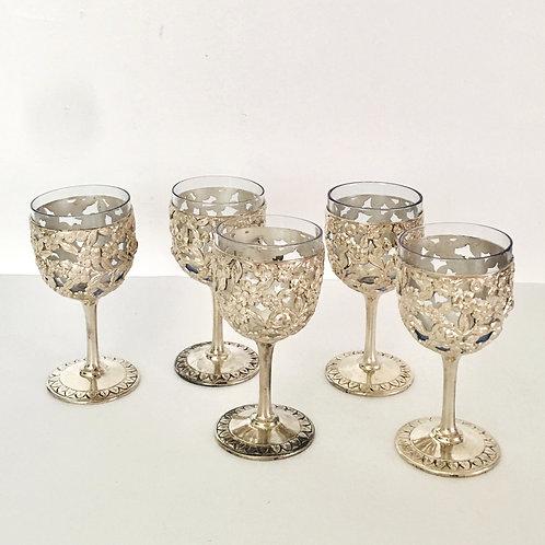 Set of 5 mini goblets