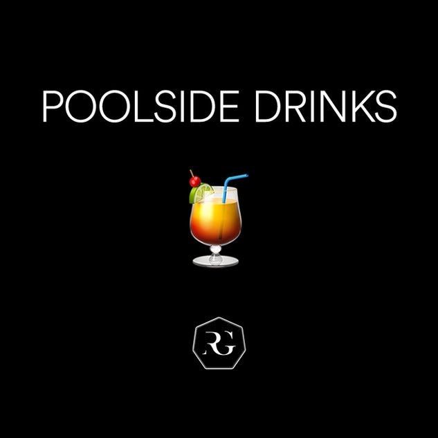 Poolside Drinks 🍹