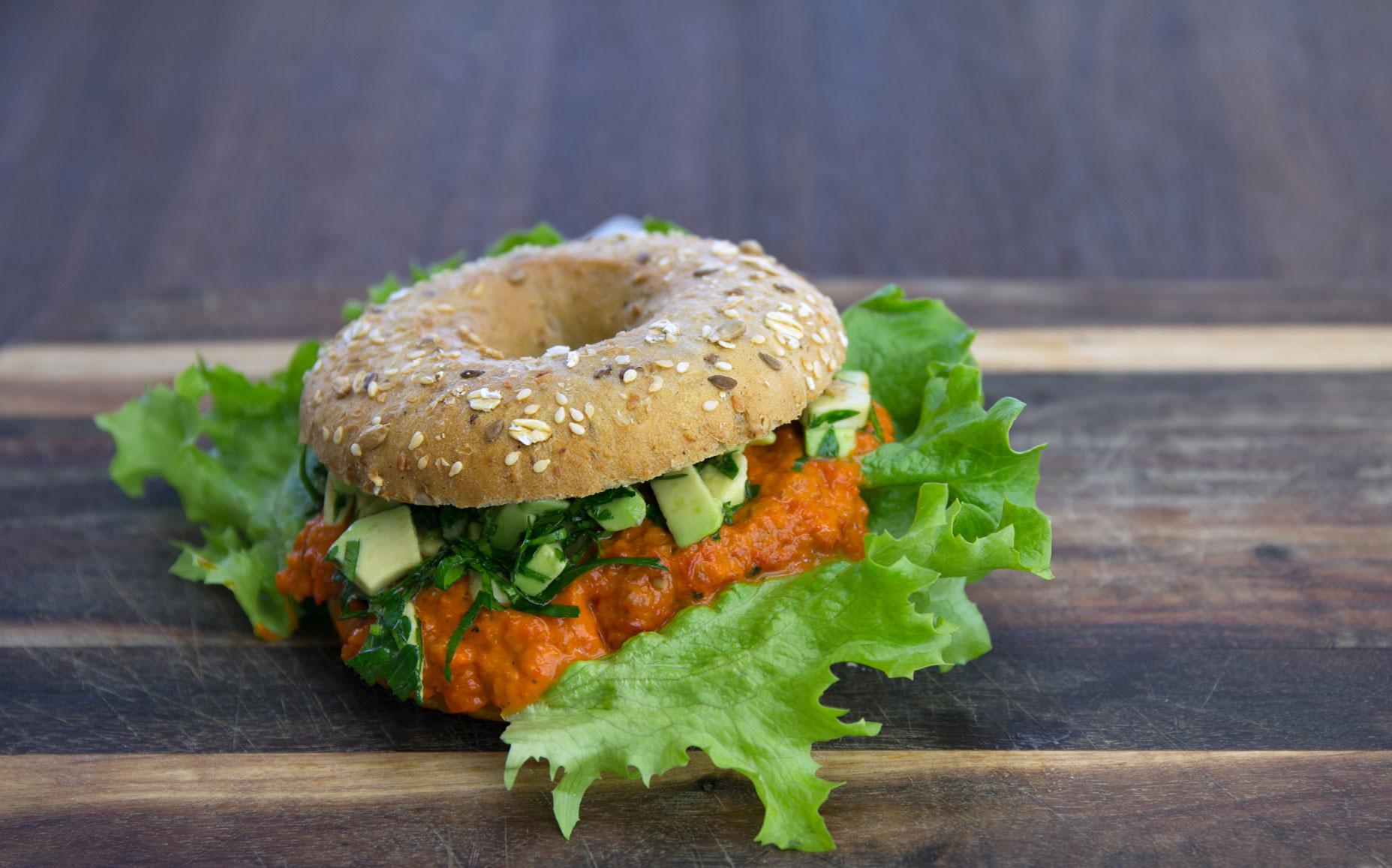 Bagel-Avokado-vegetarisch