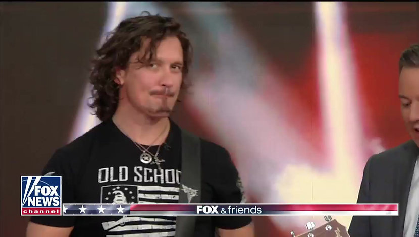 "Dave Bray USA performs ""Warrior Inside"" Live on Fox & Friends"