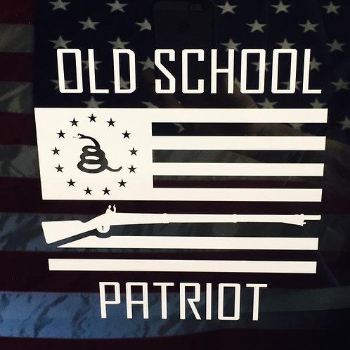 OLD SCHOOL PATRIOT Vinyl Decal