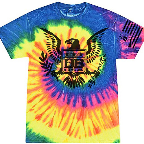 Tie Dye Freedom Eagle (Youth) - Neon Rainbow