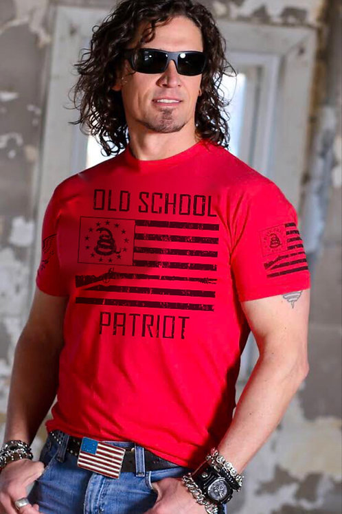 Red Old School Patriot T-Shirt