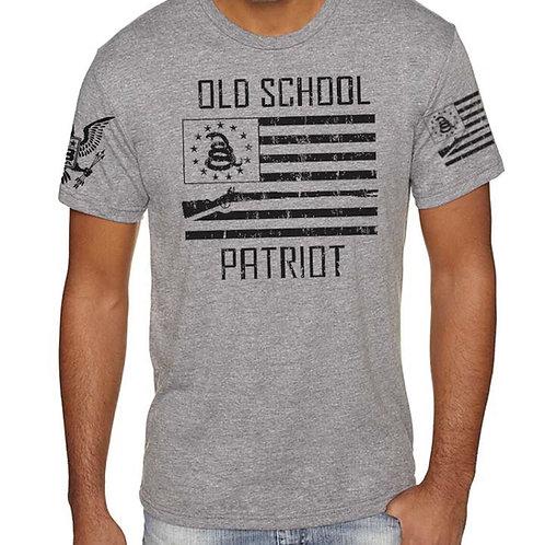 OLD SCHOOL PATRIOT T-SHIRT (GRAY)