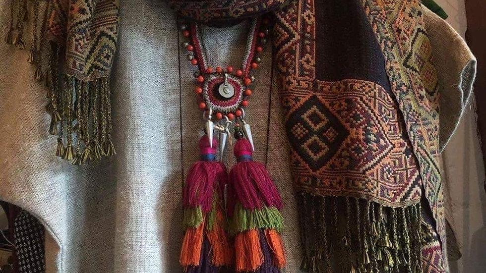 Himalayan Reversible Shawl Large Hand Crafted