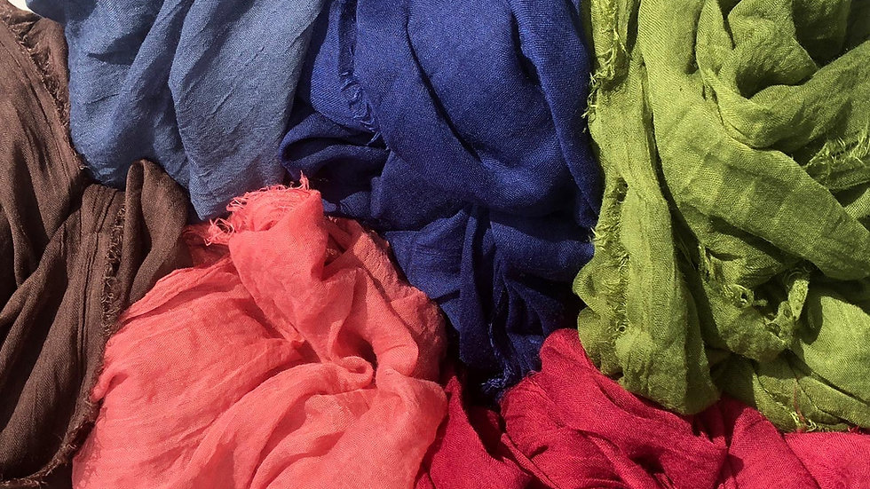 Soft Organic Cotton Scarves