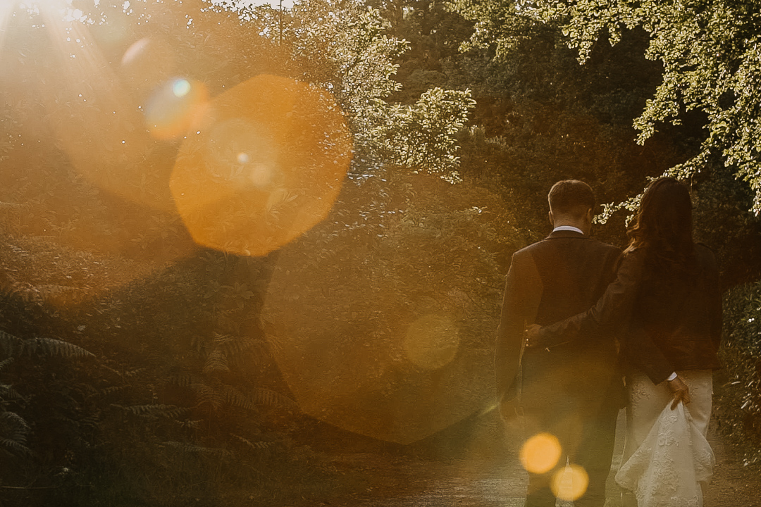 Sunset wedding photography and videography