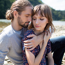 Couple by a River