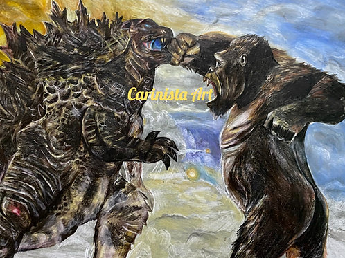Godzilla vs Kong Print