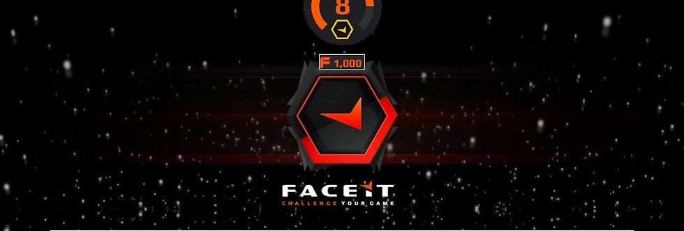 Faceit Level 8 | 1798 Elo | 1.88 K/D | 23 AVGK | 1,000 pts | Verified | Instant