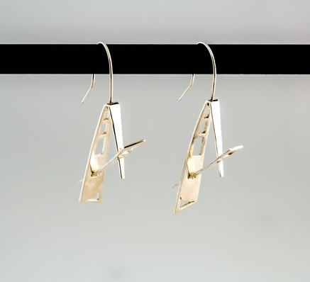 Fabricated sterling silver earrings.