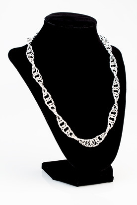Saxon twist sterling silver chain, each link hand soldered.  Price: SOLD
