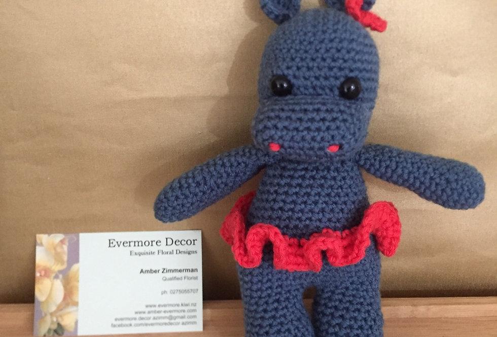 Hippo Crochet Toy