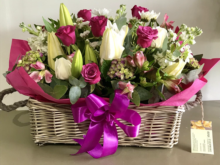A Stunning Basket of Summer Blooms