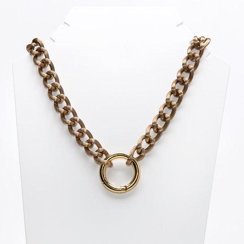 Colar Curto Smoked Chain