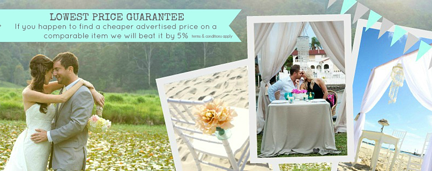 Lowest price guarantee gold coast wedding event hire decor gold coast weddinggold coast event diy weddinggold coast hireprice junglespirit Image collections