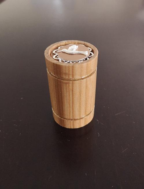 Reliquaire en bois tourné vintage Colibri