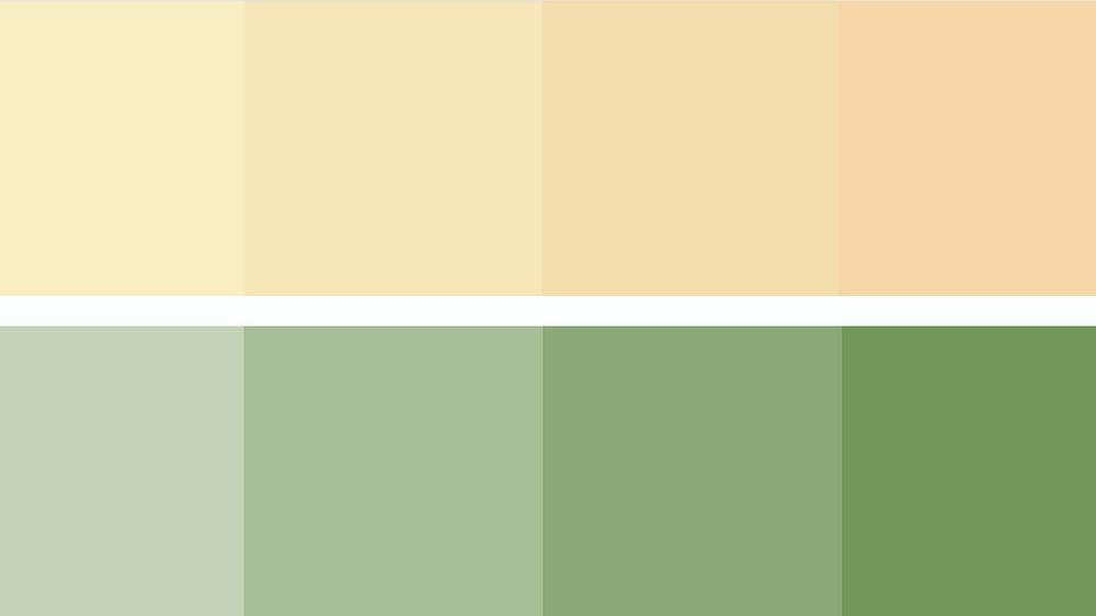 Farbschema Grün Lindgrün, Apricot