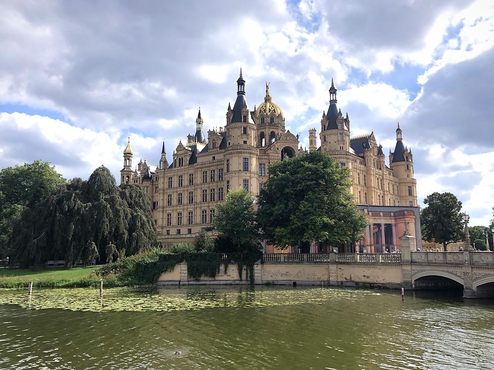 castle, germany, schwerin, lake, north germany, mecklenburg-vorpommern