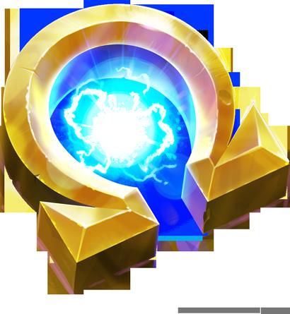 Omega Power-Up, from Skylander SuperChargers