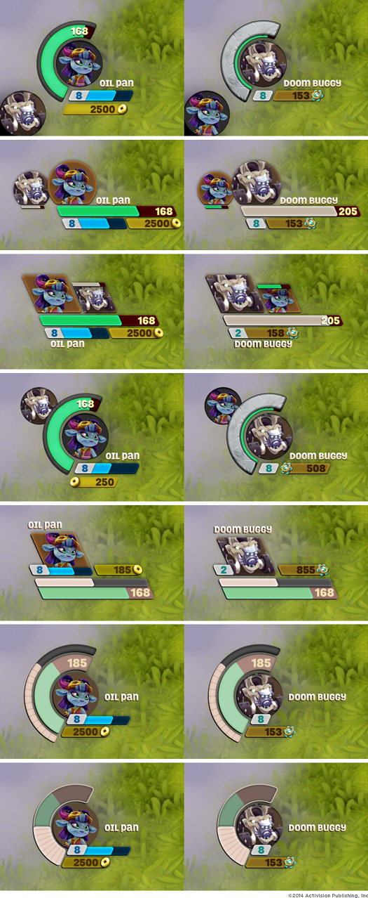 SuperChargers HUD layout explorations