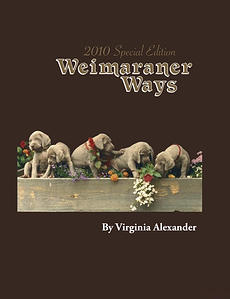 The front cover of Weimaraner Ways 2010 Special Edition Hardcover Book in color