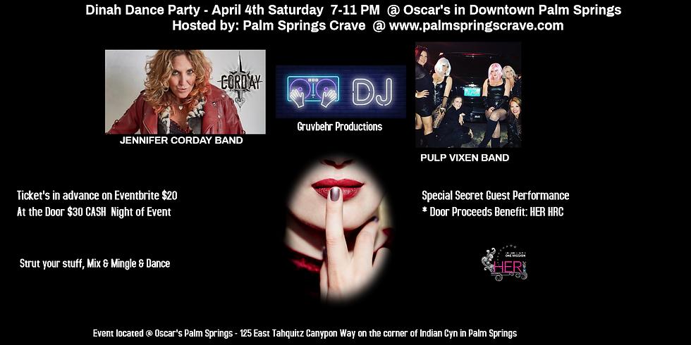 DINAH DANCE SATURDAY 4/4/2020 - EVENT POSTPONED!  FUTURE DATE TBD