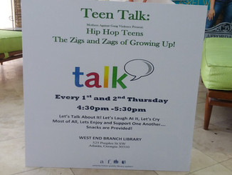 Join us for Teen Talk!!