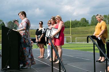 ECSE team accepts Sparkle Award