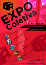 Exposição com 5 artistas na Galeria O APÊ Art 2021...
