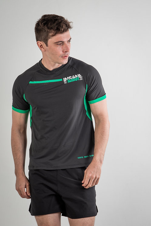Camiseta IR First Edition Chumbo/Verde