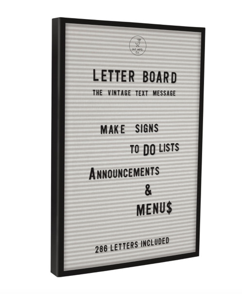 decorate your space with a jay vintage inspired letter board black framed and with 286 letters and numbers make your very own word art