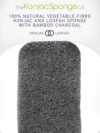 Konjac and loofah body sponge infused with bamboo charcoal for oily and acne prone skin
