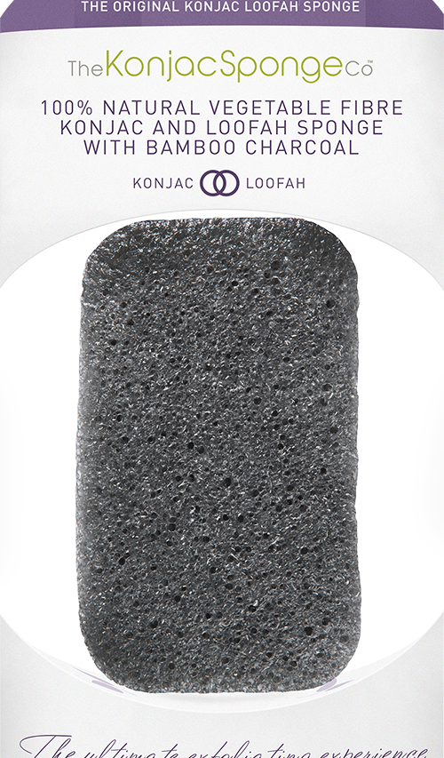 Konjac and Loofah Body Sponge infused with Bamboo Charcoal