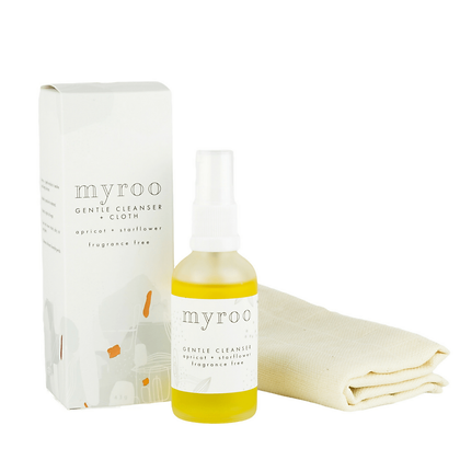 Myroo fragrance free Gentle Oil Cleanser with Starflower (borage) oil and apricot kernel oil