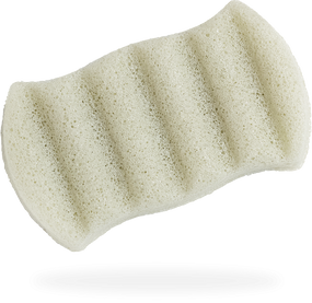 Konjac body sponge infused with French green clay for combination skin