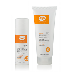 Green People Scent Free Face and Body Sunscreen Duo