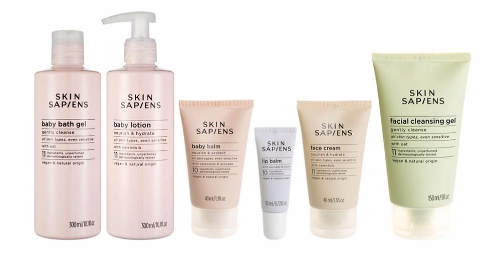 SKIN SAPIENS full range of fragrance free and vegan skincare products