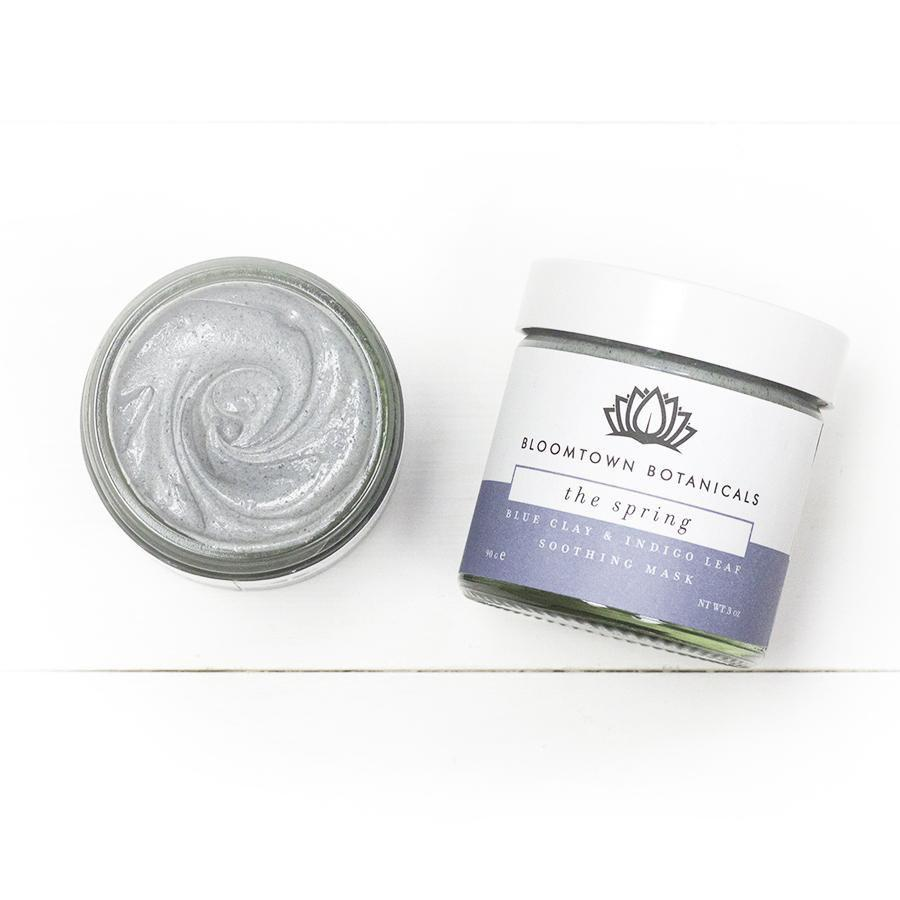 Bloomtown ('The Spring') unscented Blue Clay Mask with Soothing Bentonite and Indigo Leaf