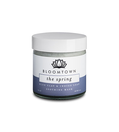 Bloomtown Blue Clay and Indigo Leaf Soothing Mask