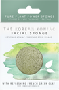 Konjac facial sponge infused with French green clay for combination skin