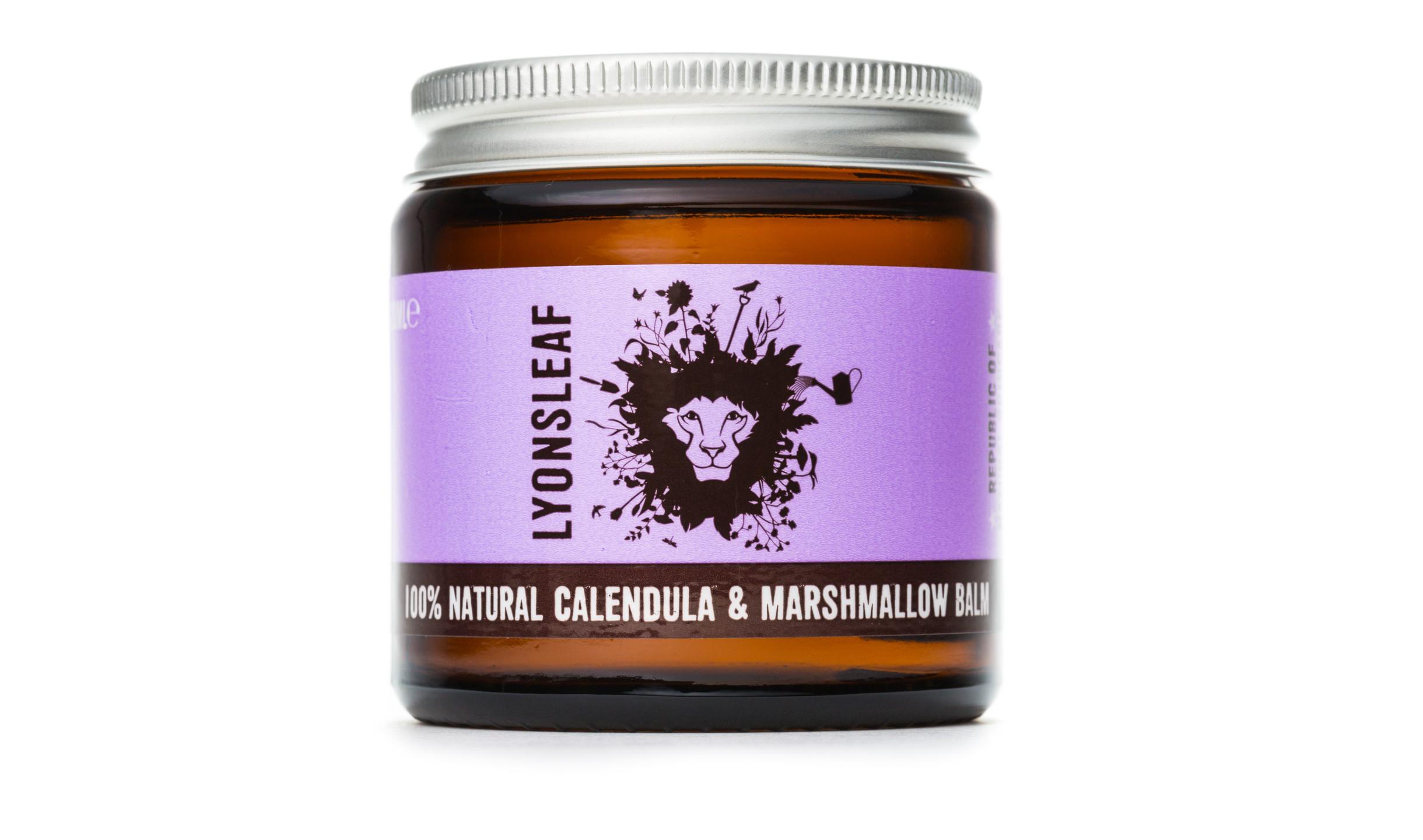 Lyonsleaf 100% Natural Calendula and Marshmallow Balm with Borage (Starflower) Seed Oil