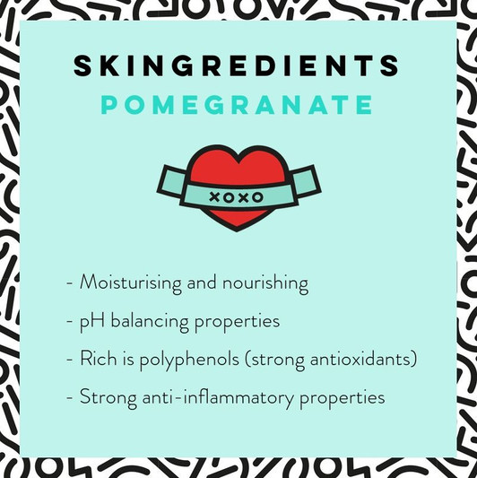 Pomegranate skin Care Benefits